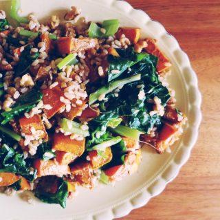 pumpkin and brown rice salad
