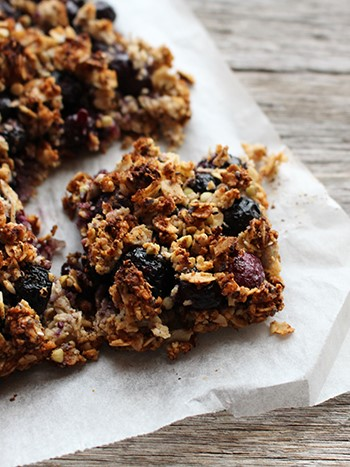 Blueberry Crumble Slice