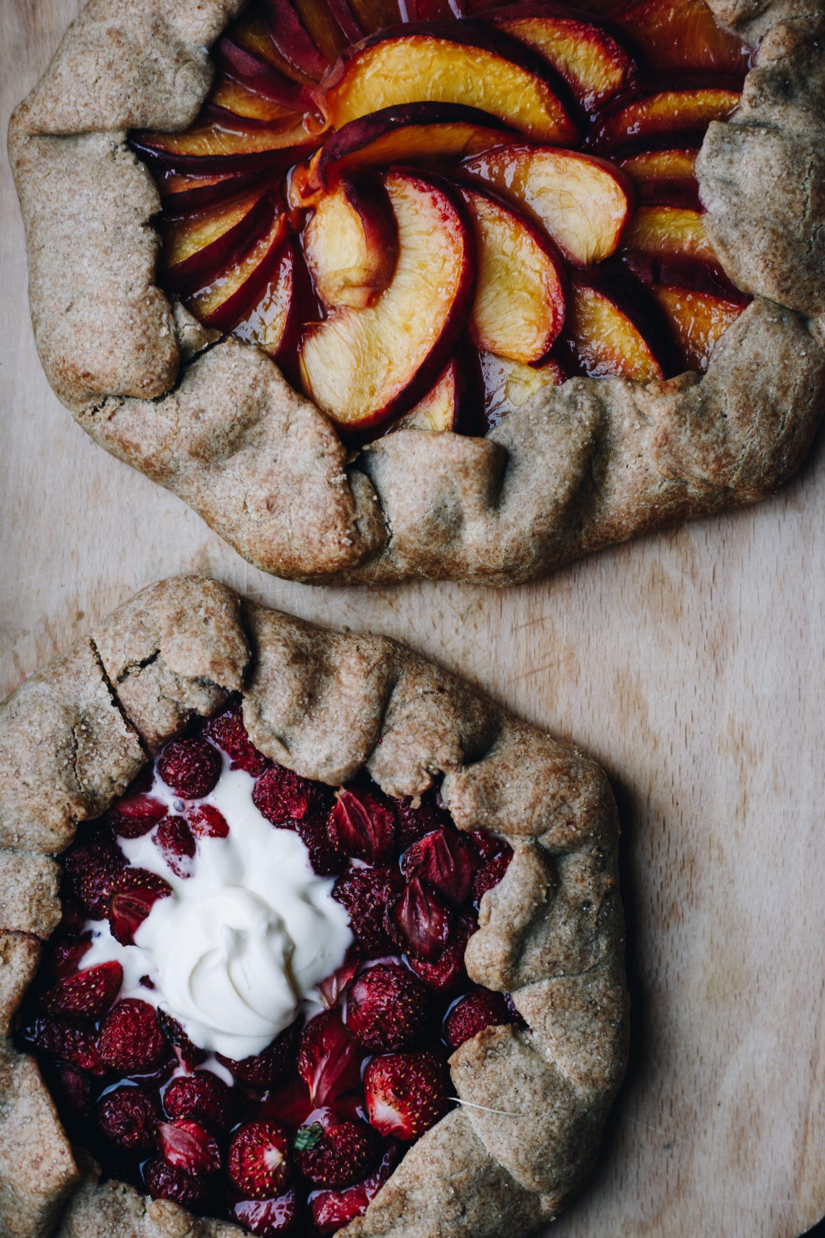 Gluten Free Strawberry & Peach Galettes