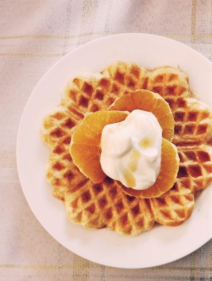 Mother's Day Brunch… Baked Eggs & Waffles