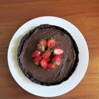 chocolate cashew cream tart