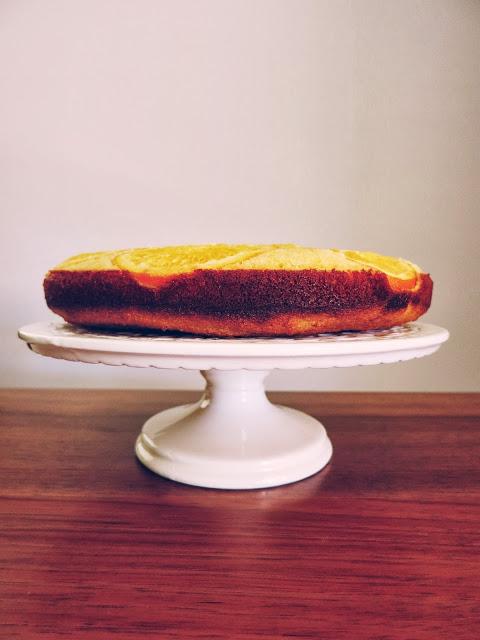 Upside-Down Orange Polenta Cake