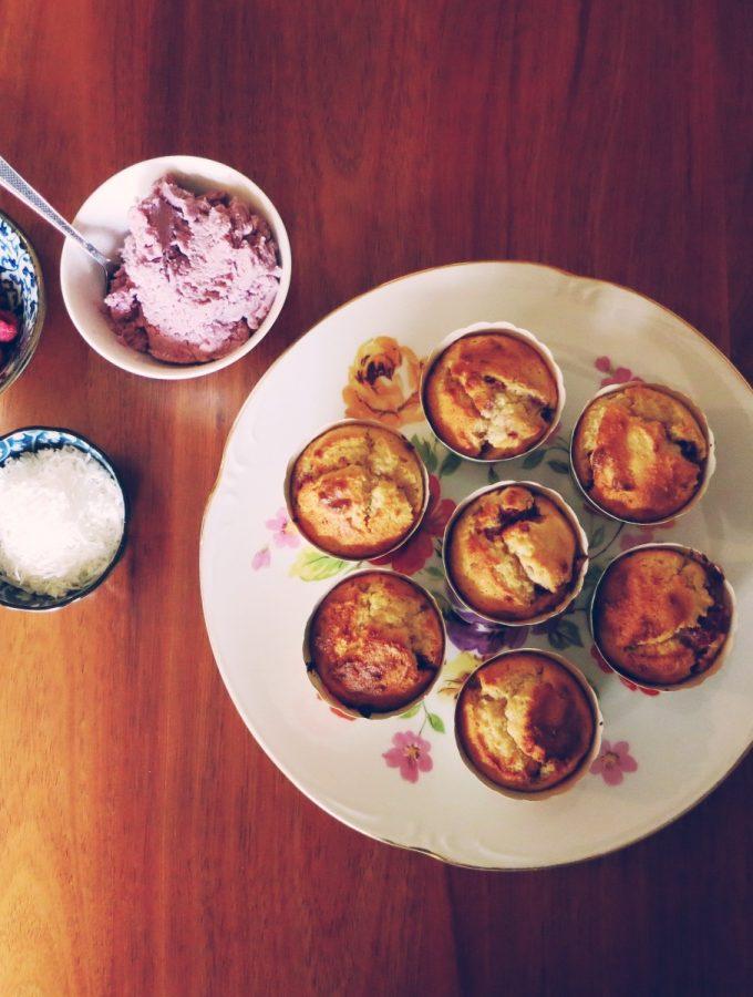 Raspberry & Coconut Cupcakes